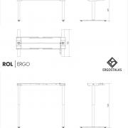 Reguliuojamo aukščio stalas EEC47 su stalviršiumi