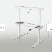 Reguliuojamo aukščio stalas be stalviršio