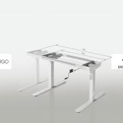 Reguliuojamo aukščio stalas be stalviršio, reguliuojamas ranka