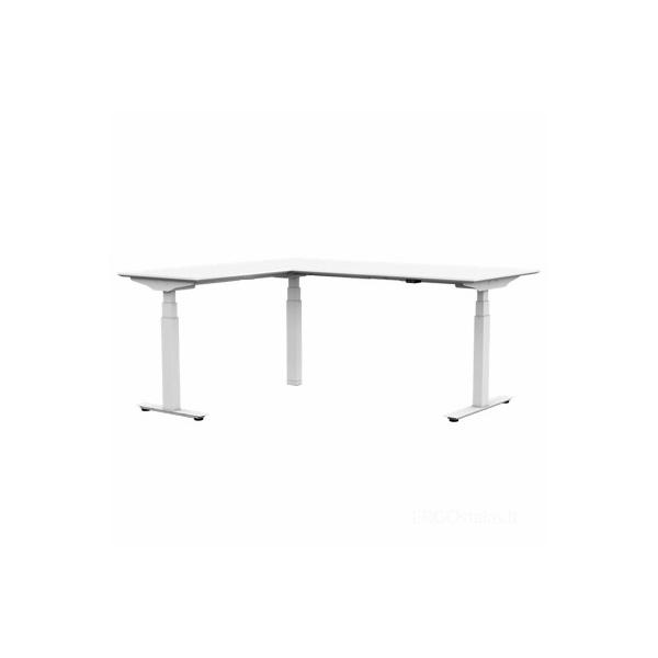 Reguliuojamo aukščio stalas L formos kampinis