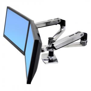 Monitoriaus laikiklis dviems ekranams