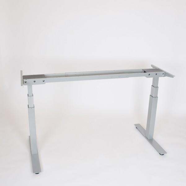 Reguliuojamo aukščio stalo kojos pakeltos iki vidutinio aukščio (dažyta milteliniu būdų pilka spalva)