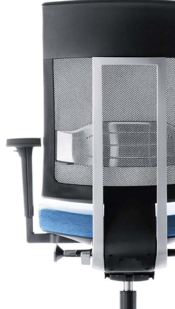 Biuro kėdė aptraukta medžiaga